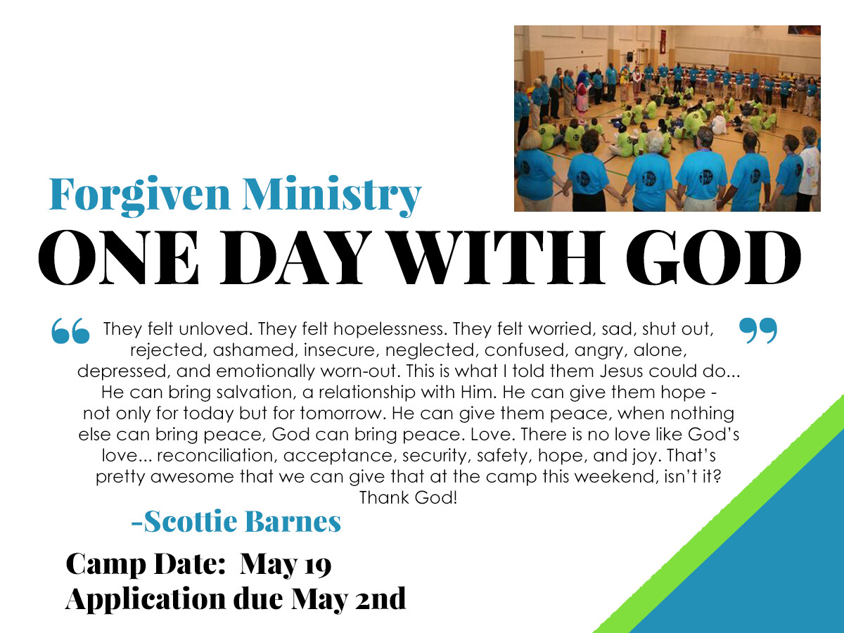 One Day With God Forgiven Ministry